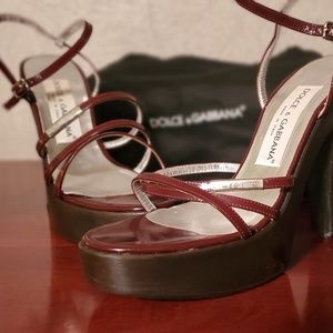 Dolce and Gabbana platform heel